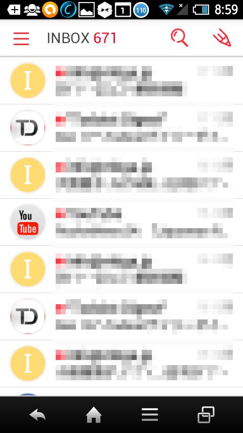 アカウント登録すると、メールチェックができる